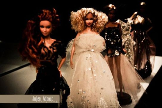tribute to the iconic Barbie by the Lebanese designer Julien Abboud